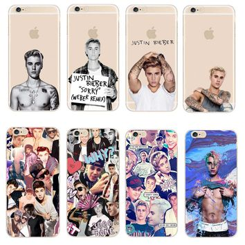 Fashion JUSTIN BIEBER Design Phone Cases For Apple iPhone X SE 5 5S 6 6S 7 8 Plus Transparent Plastic Back Cover Coque