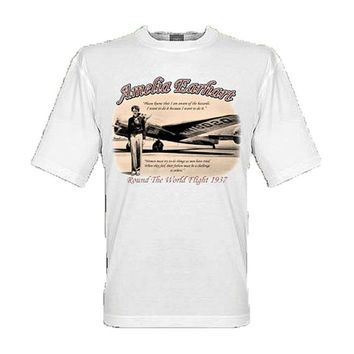 Amelia Earhart - Flight Around the World 1937 - tee shirt