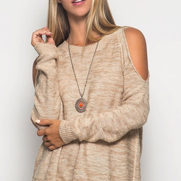 Layered Sweater - Taupe