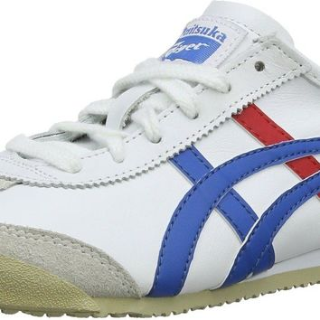 Onitsuka Tiger Mexico 66 White Blue Red Leather Mens Trainers Shoes