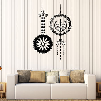 Vinyl Wall Decal Chandelier Candles Light Lighting Room Art Stickers Mural Unique Gift (312ig)