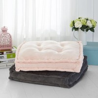 Mainstays Tufted Floor Pillow, Charcoal - Walmart.com