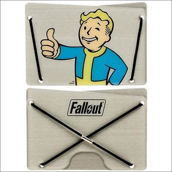 Fallout Vault Boy Men Boys Slim Aluminum Credit Card Cash ID Wallet OFFICIAL