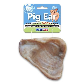 Pig Ear Dog Chew Toy, Made in USA