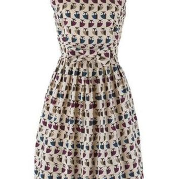 Orla Kiely Owl Dress for People Tree | Retro to Go