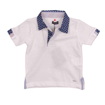 Fun&Fun - Baby Boys Polo Shirt With Anchors
