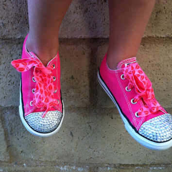 KiSS Me Valentines Day Shoes - Valentines day Accessories - Valentines prop - Crystals - Bling Converse - Toddler shoes Youth shoes