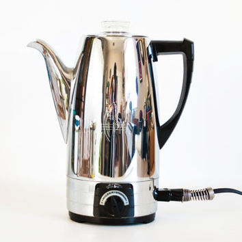 Vintage 1950s Sunbeam Percolator Mode AP, 10 Cup Electric Coffee Percolator, Working Condition