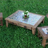 Grande Coffee Table & Pair of End Tables by natureinspiredcrafts
