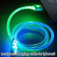 New Charging Cable For iPhone 7 6s 6 plus se ios 10 Charger for iphone 5s 5 5c ipad 4 Visible Flashing LED Bright 8 Pin Data USB
