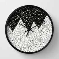 Day and Night (pen on paper) Wall Clock by Anita Ivancenko