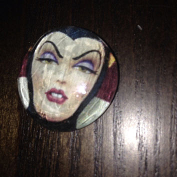 Blank Glass Cabochon Inspired by the Evil Queen from Disney's Snow White