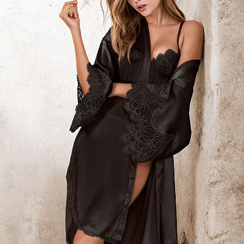 Lace-trim Satin Robe - Dream Angels - Victoria's Secret
