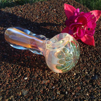 Electric Jellyfish Glass Pipe, Handmade in USA by FlabbaGlass Designs