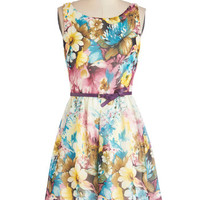 ModCloth Pastel Mid-length Sleeveless A-line Pottery Painting Party Dress in Pastel