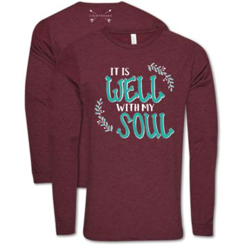 Southern Couture Lightheart Well With My Soul Soft Long Sleeve T-Shirt