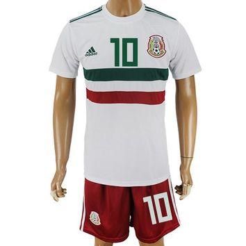 2018 World Cup Mexico Team Football Clothes Football Shirt Football Jersey Soccer Jersey Soccer Uniform (2 Piece)