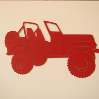 Jeep 16 Gauge Metal Wall Sculputure