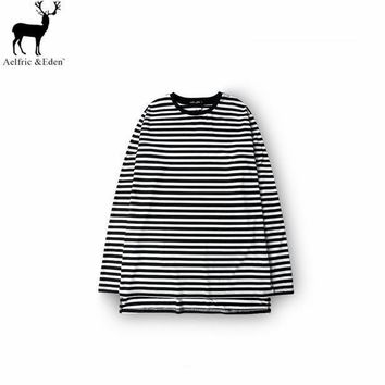 ca qiyif New striped Cotton Striped Long Sleeve