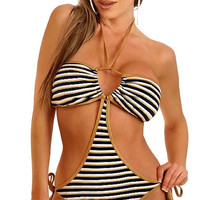 Striped Strappy Monokini