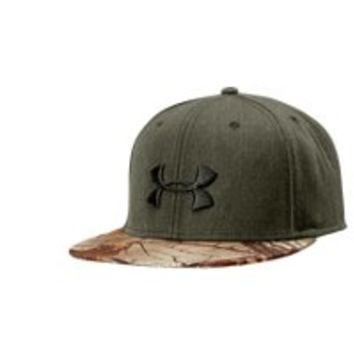 Under Armour Men's UA Camo Snapback Flat Brim Cap
