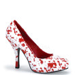 Bloody-12 Blood Splatter White Zombie Pumps