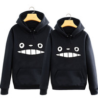 Cartoon kawaii totoro couple hoodie