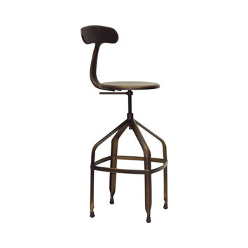 Professional's Bar Stool in Antiquated Copper