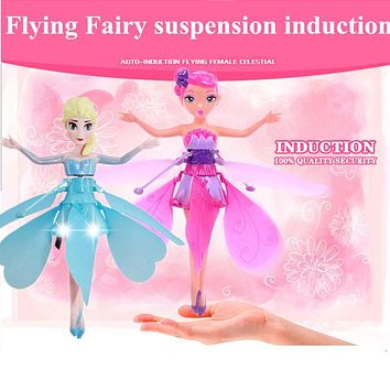 Suspension Induction Flying fairies RC Helicopter LED Lighting Quadcopter Drone Flying Sensor Remote Control Aircraft
