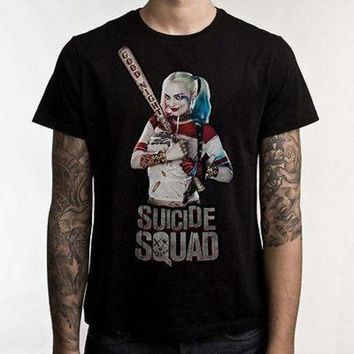 PEAPYV3 Suicide Squad T-Shirt Suicide Squad Heroes Cotton T shirt Harley Quinn Joker Tops Tees
