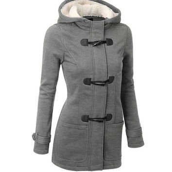 Women's Fashion Coat Slim Wool Jacket [9664392591]