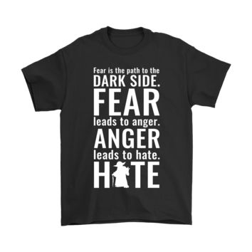 ESBCV3 Dark Side Fear Anger Hate Yoda Star Wars Shirts