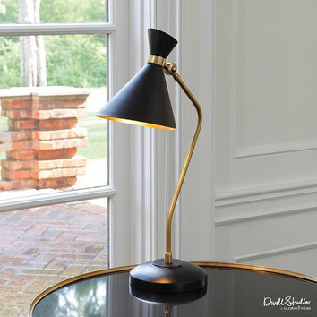 Global Views Cone Desk Lamp-Bronze/Brass - Global Views D9-90039