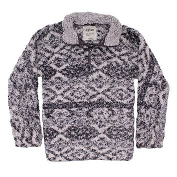 Tribal Frosty Tipped Women's Stadium Pullover in Putty by True Grit (Dylan) - FINAL SALE