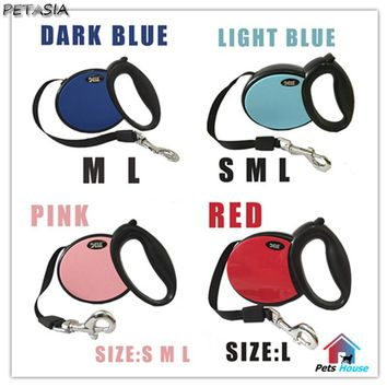 Pet Dog Leash Retractable Collar Lead 2017 BEST leash Products Small Large Dog Harness Dele Pet Dog Chain Collars Led 25kg-40kg