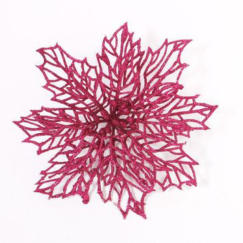 ONETOW Merry Christmas Hollow Out Flower Decor Christmas Tree Hanging Decoration Xmas Ornament [8323722881]