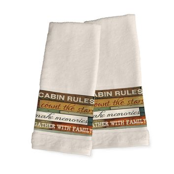 Cabin Rules Hand Towels