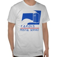 TARDIS Postal Service Tshirts from Zazzle.com