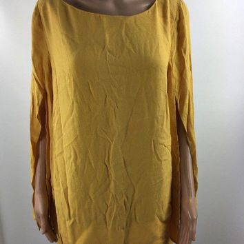 Free People Casual Blouse Top Tunic Shirt Women's Yellow Size S Small F302