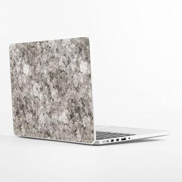 Black White Flowers Laptop Skin