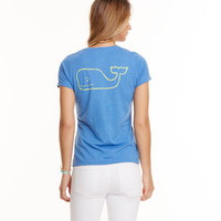 Short-Sleeve Vintage Whale Heather Pocket Tee