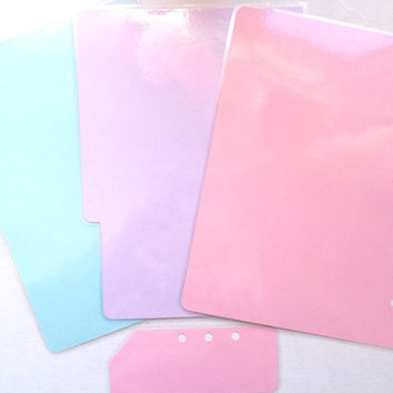 A5 Filofax Dividers, Kikki K Large Dividers, Planner Dividers, Set of 4 Laminated Dividers