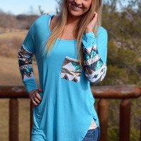 Baby Blue Sequin Top