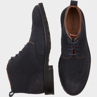 FLORSHEIM GAFFNEY NAVY WINGTIP BOOT