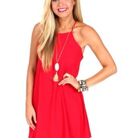 Better Off Red Shift Dress | Monday Dress Boutique