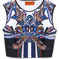 Geometric Owl Crop Top by Clover Canyon - Moda Operandi
