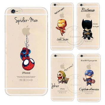 Cartoon Cool Marvel Avengers Design Case For Apple iPhone X 4 4S 5 5S SE 5C 6 6S 7 8 Plus 6SPlus Hard Plastic Phone Cover