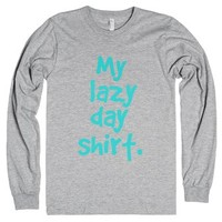 My lazy day shirt-Unisex Heather Grey T-Shirt