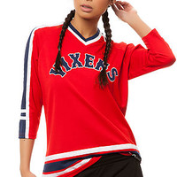The Vixens Hockey Jersey in True Red