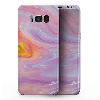 Marbleized Pink and Purple Paradise V2 - Samsung Galaxy S8 Full-Body Skin Kit